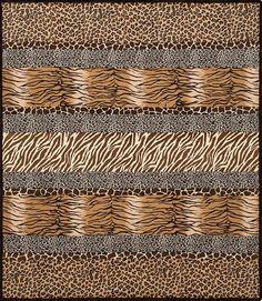 Cuddle Kit - Wild Kingdom Crazy 8 Quilt Kit