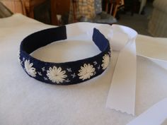 Headband Embroidered Felt with Flowers Antique by SheikSewing, $18.00