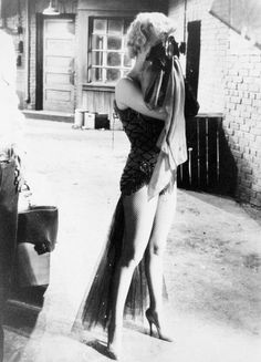 Marilyn on the set of Bus Stop 1956.