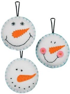 Amazon.com: Dimensions Needlecrafts Felt Applique, Snowman Smiles Ornaments: Arts, Crafts & Sewing