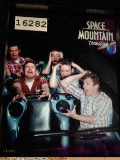 This is happening on every roller coaster ride from now on.  It will never stop being funny.