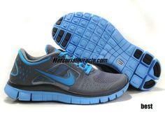 Womens Nike Free Running Shoes - Nike Free Run 3 5.0 Dark Grey University Blue  Womens Nike Free 3.0 v5 - $50.76