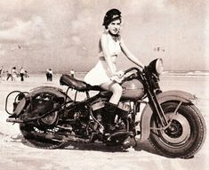 Old school motorcycle mama #vintage #motorcycles
