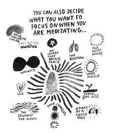 6 Magnificent Meditation Illustrations *** March Meditation Challenge: http://www.socialworkout.com/challenge/showRunning/39854