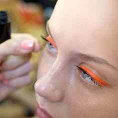 "@bethaurora's photo: ""MAC @ SS13 #Barcelona #fashion week for TCN  #makeup #fashionshow #model #mac #maccosmetics #beauty #instagood #instalove #eyeliner #neon"""