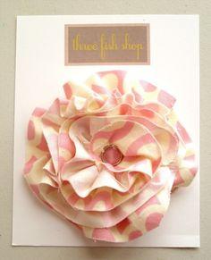 frayed fabric flower