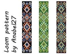 Loom bead pattern   ethnic style  beaded pattern par Anabel27shop