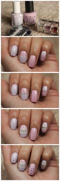 Lilac Lace mani