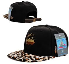 Pink Dolphin Snapback Hats Black Metal Buttons