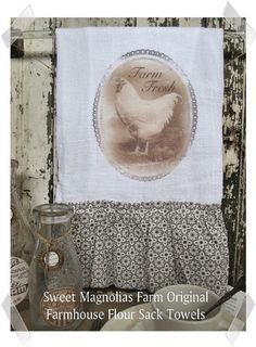 Flour Sack Kitchen Towel  - like the chicken print