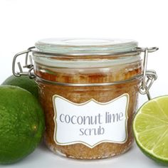 Coconut Lime Sugar Scrub is simple to make and is the perfect gift for anyone!