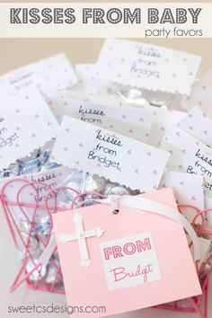 kisses from baby favor- this was from a baby shower but would be a fabulous #valentine !