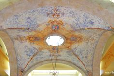 Beautifully painted groin vault ceiling...