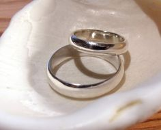 Wedding bands. Sterling Silver. On our first anniversary we will upgrade!