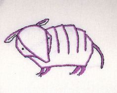 ARMADILLO Hand Embroidery Pattern PDF by MargieMargie on Etsy