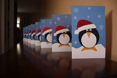Gorgeous penguin Christmas cards!