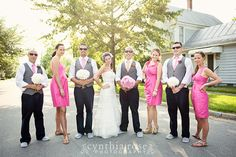 Wedding party Oriental NC wedding by Cynthia Rose Photography