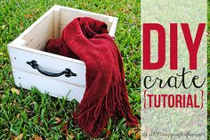 Awesome step-by-step tutorial on creating a vintage-like crate. She spent less than $40 to build six of these!