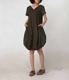 Visit friends/bud short dress/15 colors/custom made. $68.00, via Etsy.