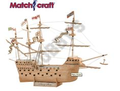 This Matchcraft Mary Rose includes everything needed to make this matchstick model kit.  Included are all the pre-cut card formers along with the glue, matchticks and full instructions. These instructions will guide you through each stage of the construction until you finally achieve the finished product.  We would highly recommend this Matchcraft Mary Rose.
