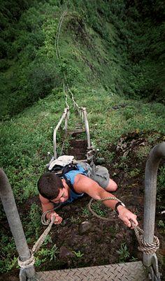 Top 10 Most Adrenaline Pumping Hiking Trails and Bridges - Ha'iku Stairs, Hawaii