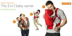 Stokke 3-in-1 Baby Carrier.