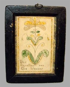 """WATERCOLOR BOOKPLATE. American, early 19th Century,  9""""h. 6 3/4""""w."""