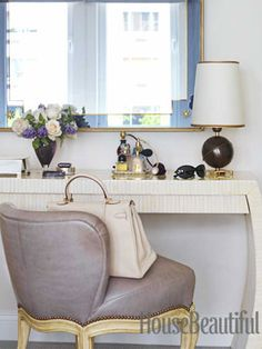 pretty dressing table and chair.