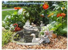 This water fountain is a great asset to any fairy garden! It is absolutely gorgeous!