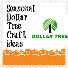 You can't beat seasonal decor at the Dollar tree...decorate on a dime and make it look awesome!