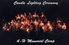 Postcard of the Candle Lighting Ceremony, 4-H Memorial Camp (July, 1941).