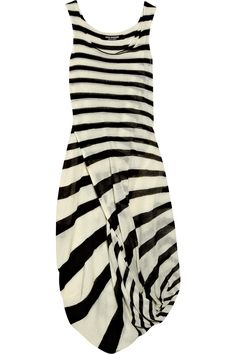 junya watanabe..not in my size..but I can dream long dresses, style, stripe wool, dress fashion, black white, polyvore, stripes, junya watanabe, jumpsuits