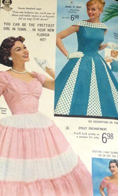 Vintage 1950's Florida Fashions