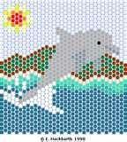 fish pattern, bead pattern, bead creation, pattern free, hamma bead, bead jewelri, bead fish, dolphin dream, poni bead
