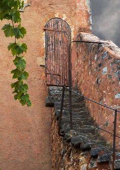 Precarious steps to the door