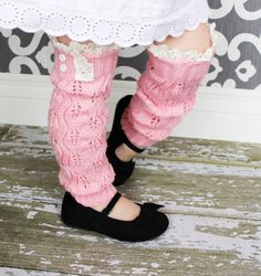 Girls Leg Warmers - Knit Leg Warmers - Lace Leg Warmers - Button Leg Warmers - Boot Cuffs