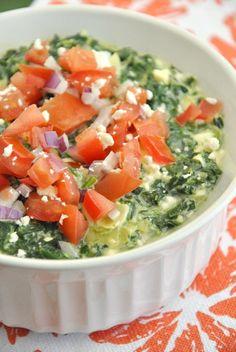 Healthified Spinach Artichoke Dip