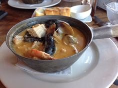 Seafood hotpot from Sandbar on Granville Island in Vancouver