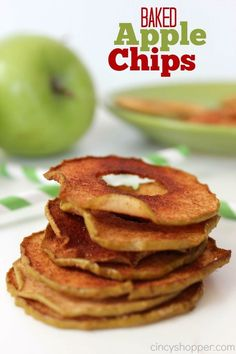 Apple Chips Recipe. A perfect fall snack.Apples and Cinnamon, yum!