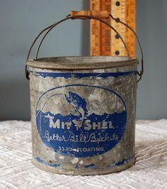 "Vintage Mit-Shel Floating Minnow Bucket - ""Better Bilt Buckets"" - 33-10, via Bold Sparrow Vintage @ Etsy."