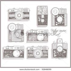 vintage camera graphics