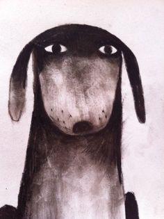 Jon Klassen Illustrator Dog Drawing #dog #art