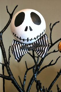 Halloween Tree. Nightmare Before Christmas. Tree Topper. Made by Serena Bee