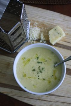 cauliflower soup with sharp cheddar & thyme