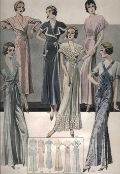 Vintage Slips, Robes and Pyjamas