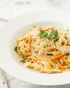 Pancit Bihon   Kitchen Confidante   Filipino Rice Noodles