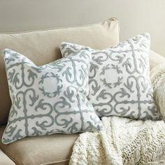 Adelynne Crewel Pillow by Ballard Designs  I  ballarddesigns.com