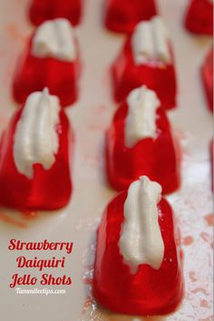 Strawberry Daiquiri Jello Shots
