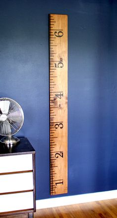 Wooden Oversized Ruler Growth Chart by jenwoodhouse on Etsy, $55.00