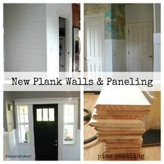 EEEK! I love love love the plank walls!!  Plank Walls & Paneling Project at The Inspired Room